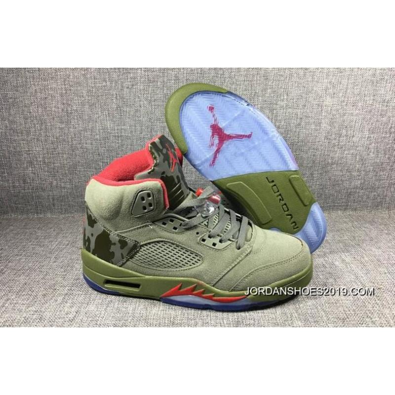 56c7f457d45412 ... promo code for 2019 latest brand new air jordan 5 camo olive grey fire  red 0f77c