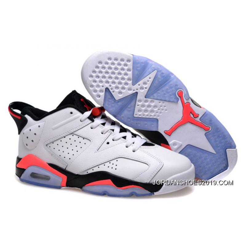 sports shoes 897ad 470be 2019 Copuon Air Jordan 6 Low White/Infrared 23-Black