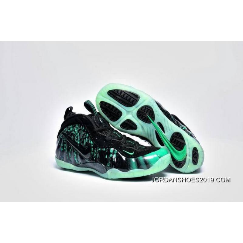 Girls Nike Air Foamposite Pro GS Matrix BlackElectric Green Super Deals
