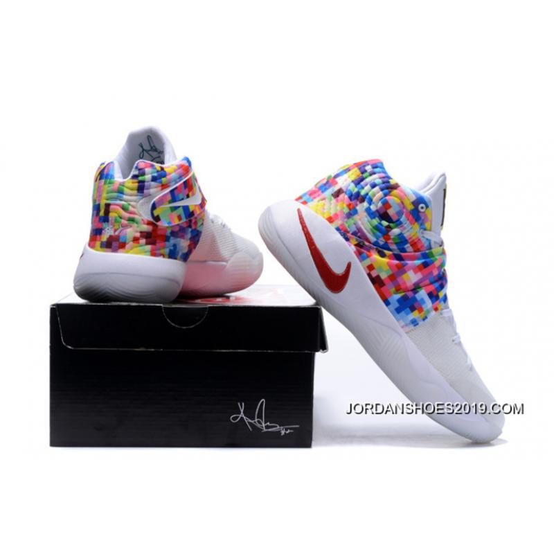 """6824583be490 ... Girls Nike Kyrie 2 """"Effect"""" White-Red Multi-Color Top Deals ..."""