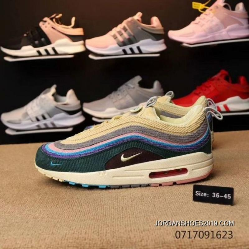 Men Sean Wotherspoon Nike Air Max 97 Hybrid SKU 92147-333 Super Deals ... f55ffb6b6