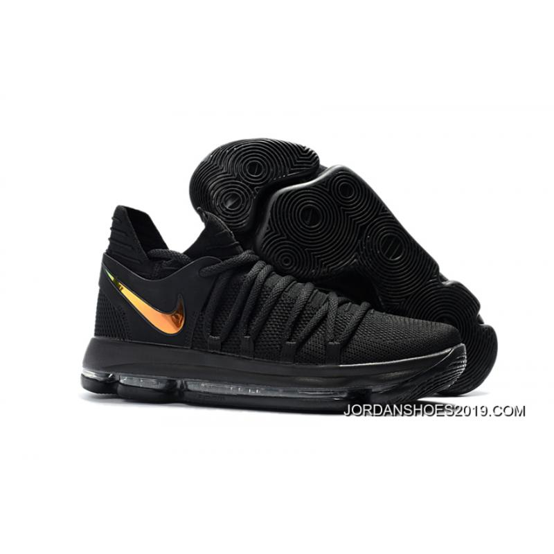 "7bd6471324a Outlet Nike KD 10 ""PK80″ Black Metallic Gold ..."
