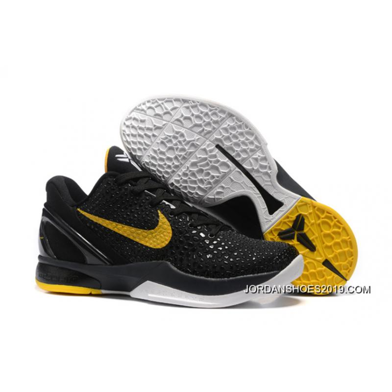 Nike Zoom Kobe 6 Black Yellow Basketball Shoes 2019 Super ...