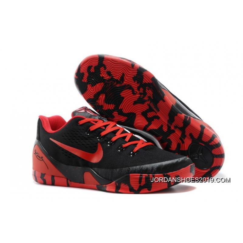 premium selection 11054 bac95 2019 Outlet Nike Kobe 9 Low EM XDR Black Red ...
