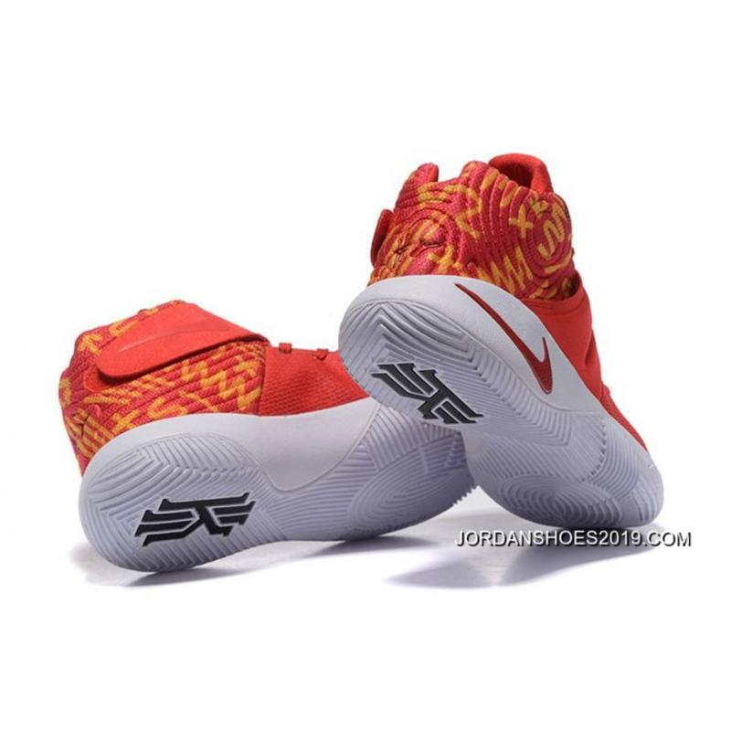 los angeles 1132b 2f407 2019 Online Nike Kyrie 2 Red White Basketball Shoes