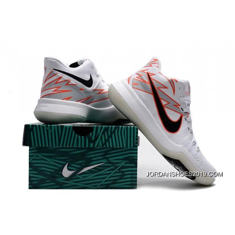 "a19f25862eaf 2019 Outlet Nike Kyrie Irving 3 ""Greased Lightning"" PE White- ..."