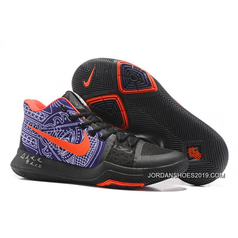"quality design f943c 5f1e3 Nike Kyrie Irving 3 ""Hamsa Hand"" Tattoo Basketball Shoes 2019 Outlet ..."