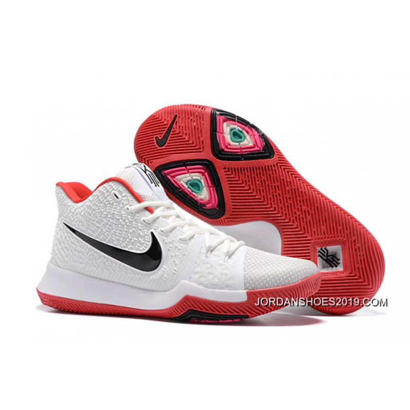 dd82ece2aed8bc Nike Kyrie 3 White Red Black 2019 Best ...