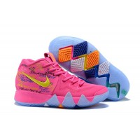 2019 Super Deals Nike Kyrie 4 What The PinkTeal Christmas