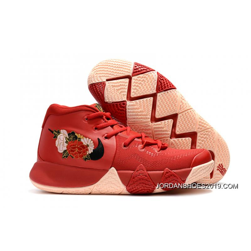 """a36b269928d Nike Kyrie 4 """"Floral"""" Red Peony Online ..."""