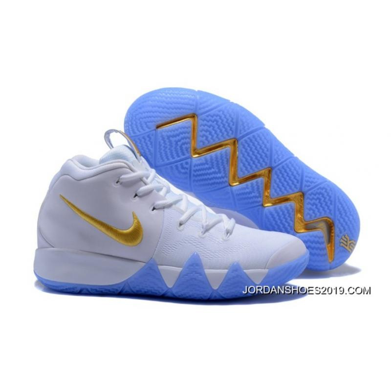 1b72ef8a5c38 Free Shipping Nike Kyrie 4 White Gold ...