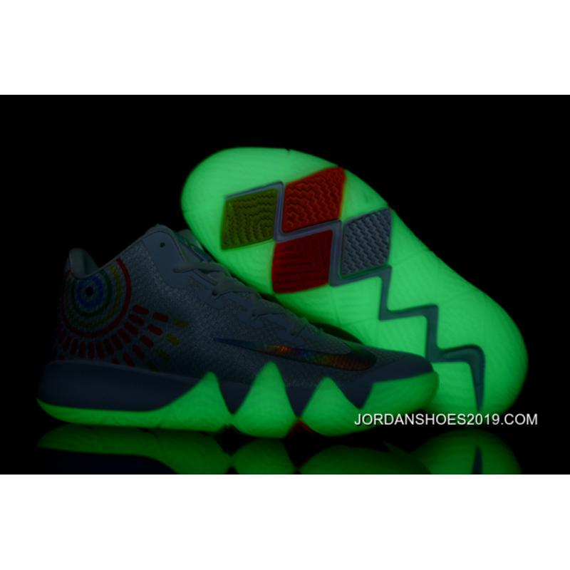 "promo code 42be0 cb9d1 ... Top Deals Nike Kyrie 4 ""Iridescent Swoosh"" Glow In The Dark Soles"