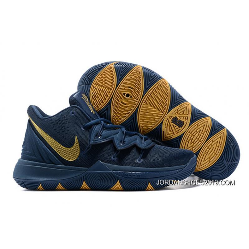 "low priced 4c4ae ea53f Nike Kyrie 5 ""Philippines"" Navy Blue/Gold For Sale"