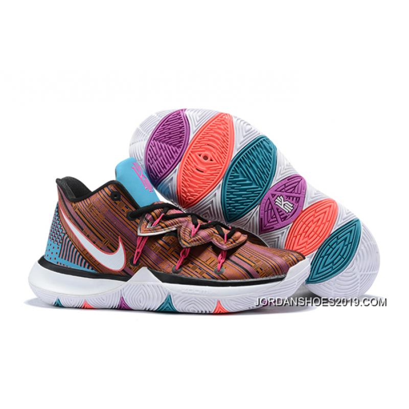 Nike Kyrie 5 BrownBlue Multi Color Top Deals, Price: $87.88