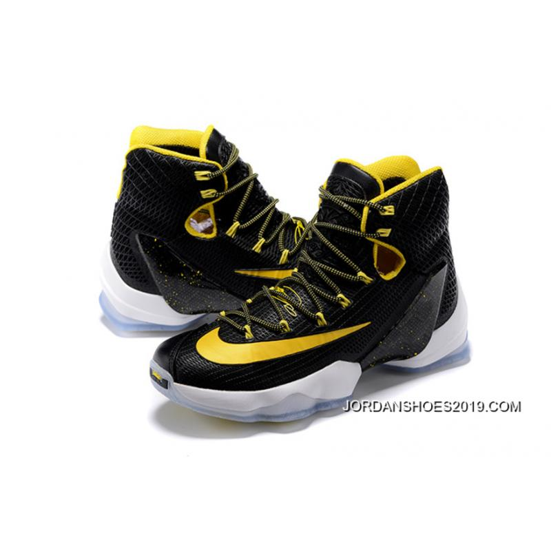 2019 Copuon Nike LeBron 13 Elite Black/Yellow-White ...