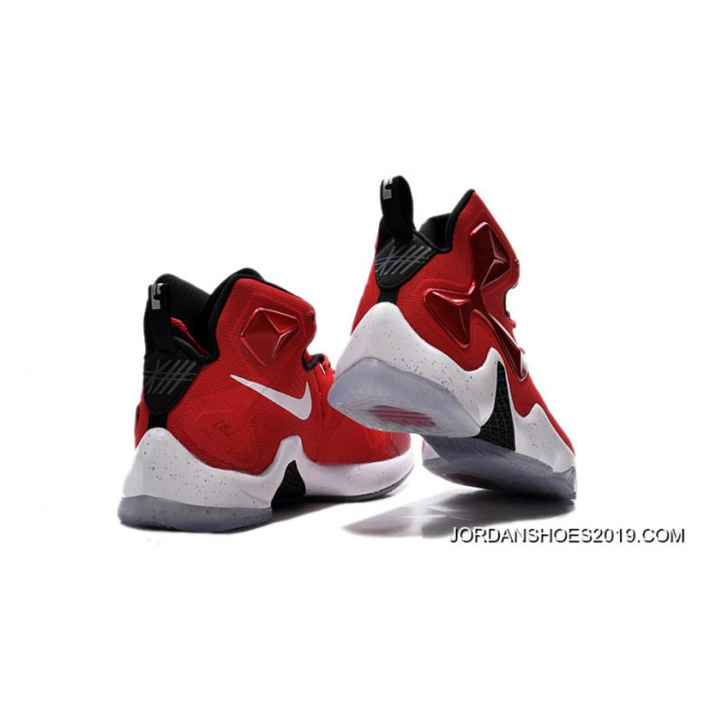 4cefba97d5b ... Nike Lebron 13 Gym Red Black White Men Basketball Shoes For 2019 Latest  ...