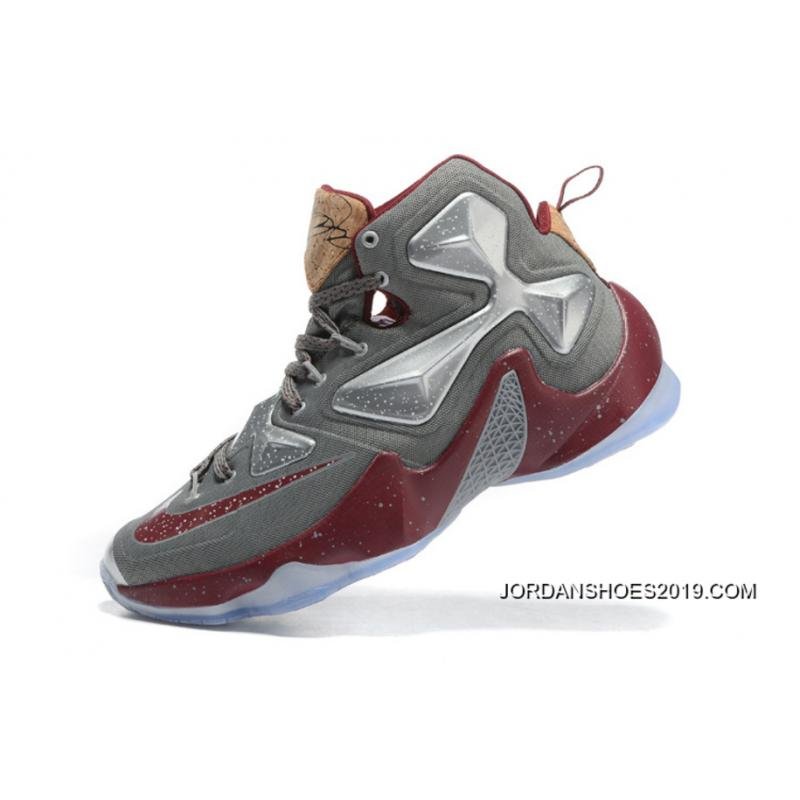 "new styles c7483 564b8 ... Nike LeBron 13 ""Opening Night"" Fine Wine Wolf Grey Basketball Shoes  2019 Online ..."