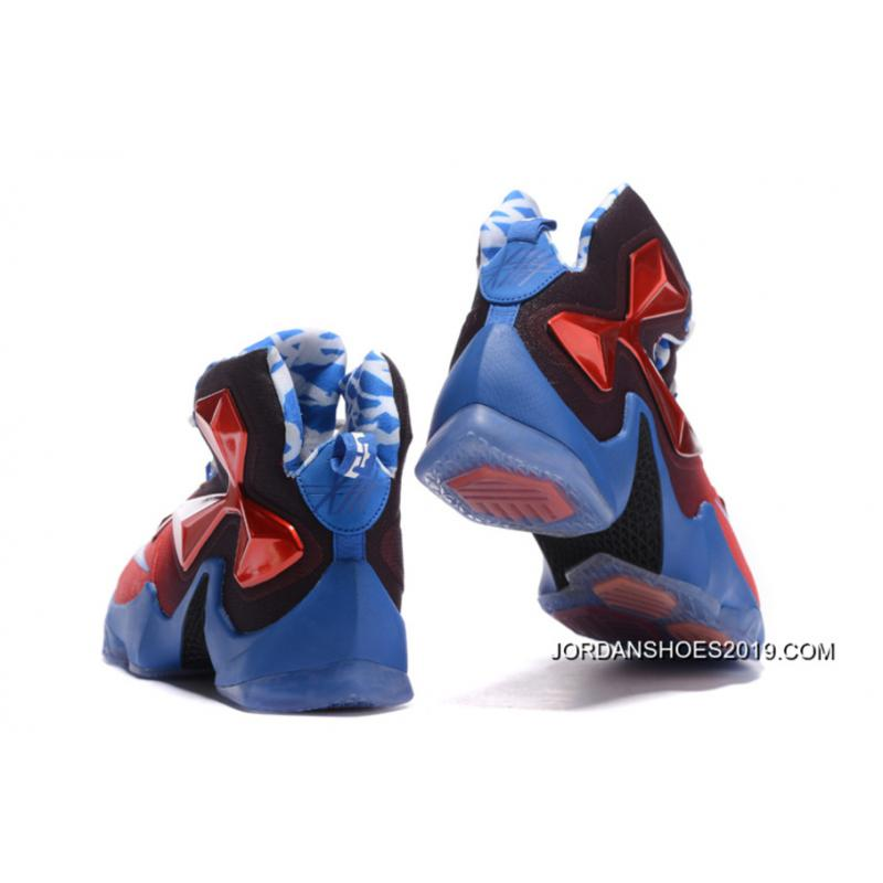 "quality design ed5ca e8aaf Nike LeBron 13 ""USA"" RedWhite-Blue Basketball Shoes 2019 Online ."