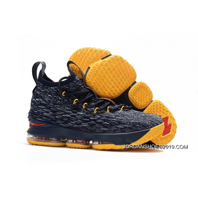 4d8d0a04dc46 2019 Latest Nike LeBron 15 Black Yellow-Red Shoes ...