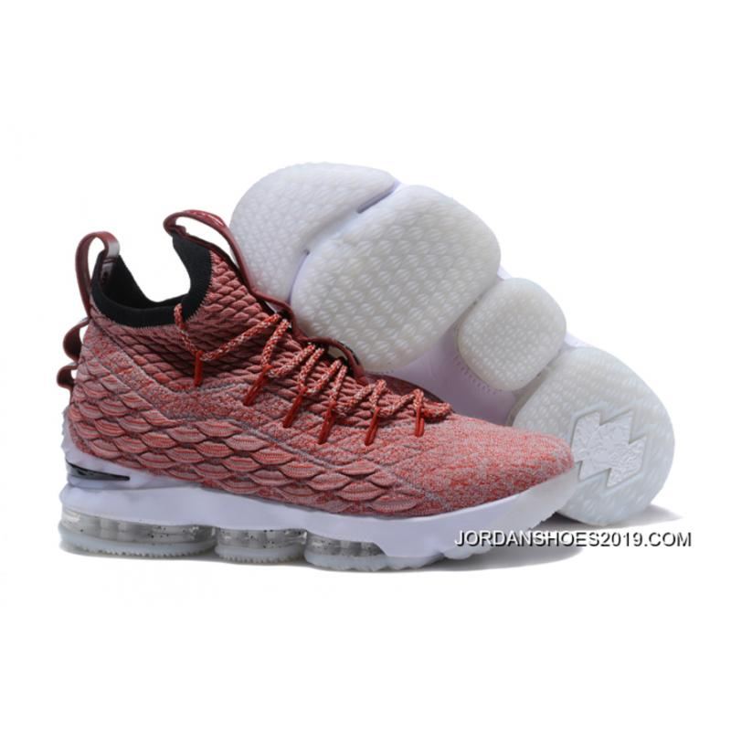 1aca6ae6707bd Nike LeBron 15 Red Flyknit White Basketball Shoes 2019 For Sale ...