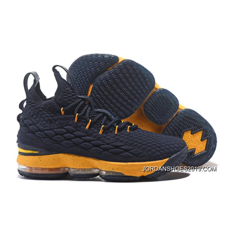 77428c3fcd7 Nike LeBron James 15 Midnight Navy Yellow 2019 New Release ...
