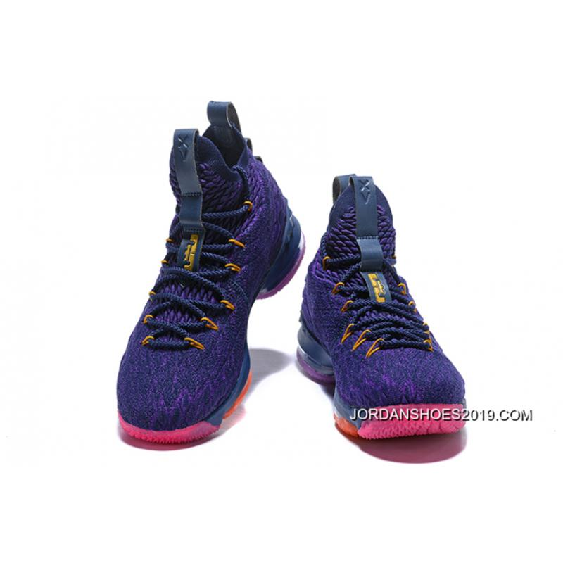 b8fae57ae494 ... New Release Nike LeBron 15 PE Purple Multi-Colour ...