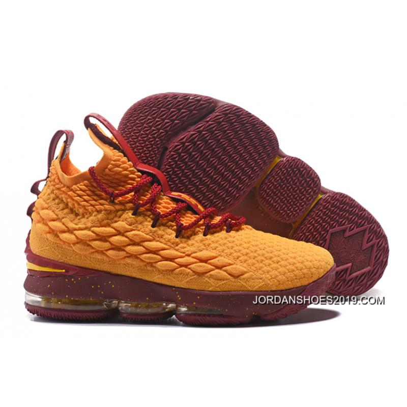 06d4b5e0d092 Nike LeBron 15 Yellow Burgundy Gold Best ...