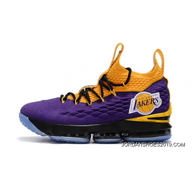be88c40031bd ... get nike lebron 15 los angeles lakers purple yellow black where to buy  c9691 202f9