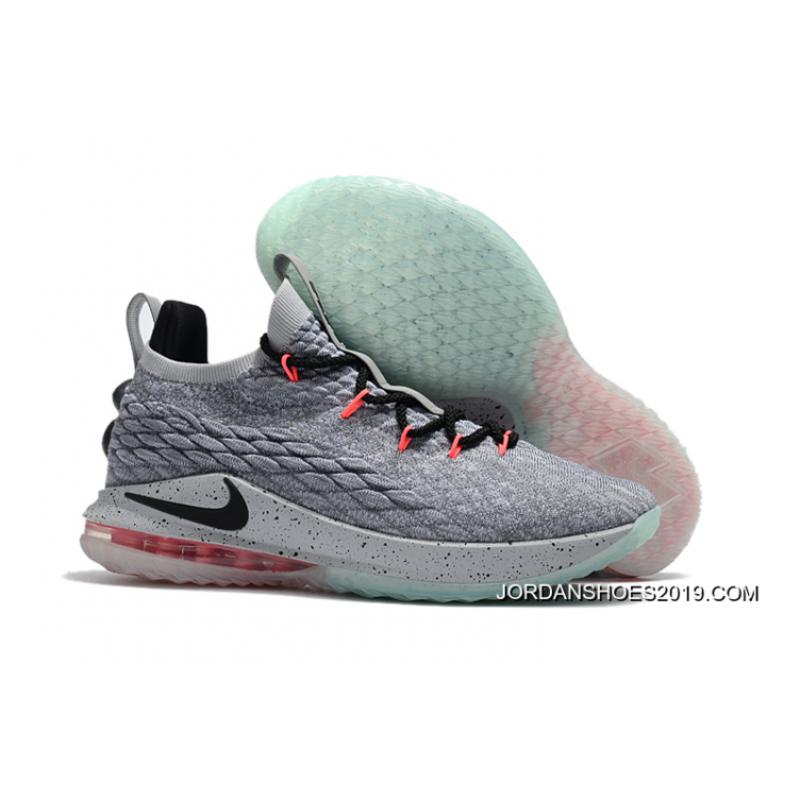 """detailed pictures 18280 2787e Nike LeBron 15 Low """"Flight Pack"""" Cool Grey/Black-Teal Tint-Sunset Pulse Top  Deals"""
