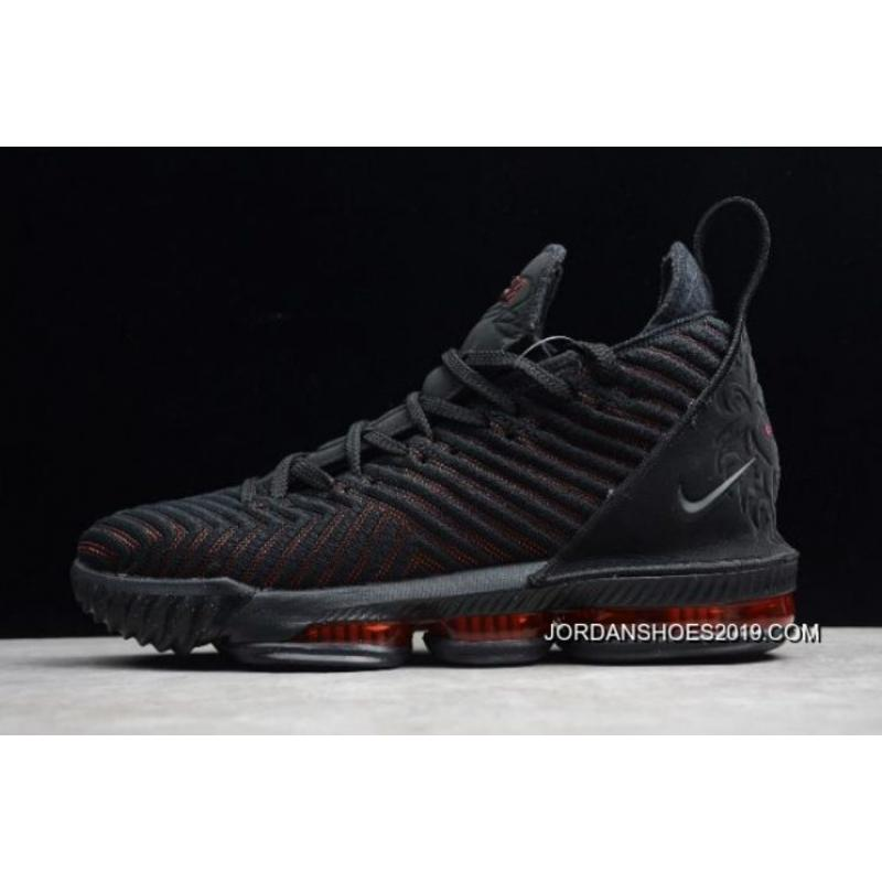 "2d3ea2b77d43 Nike LeBron 16 ""Fresh Bred"" Black University Red AO2595-002 Best ..."