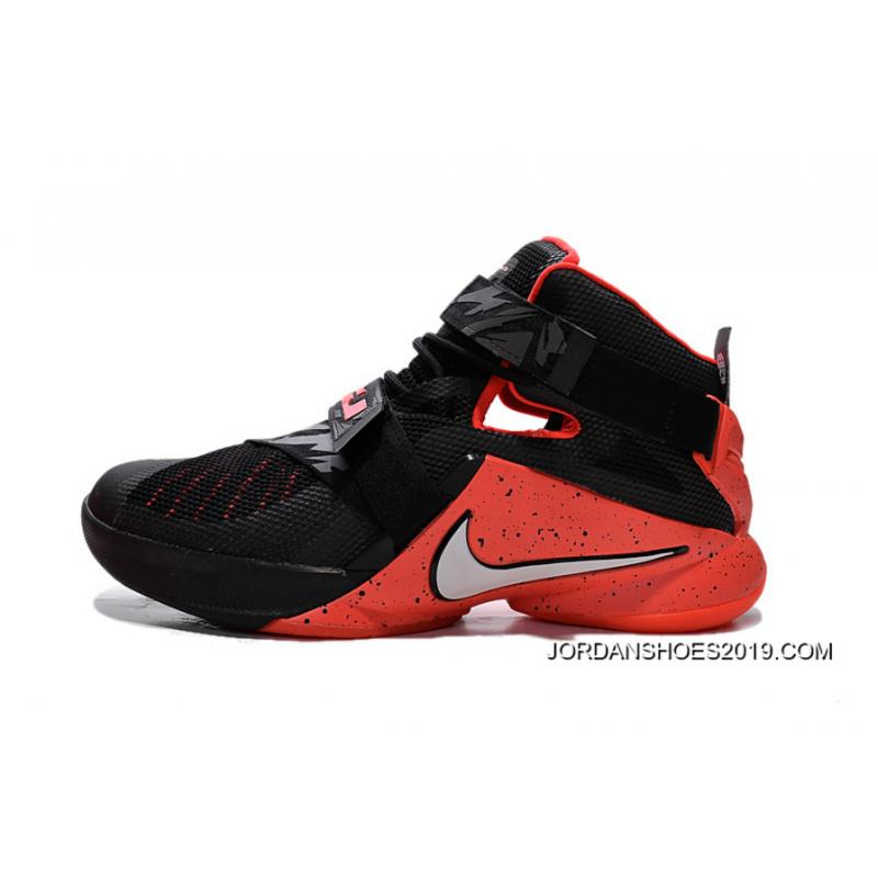 Nike LeBron Soldier 9 Black Red Basketball Shoe 2019 New ...