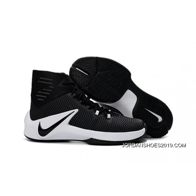 2019 latest nike zoom clear out black white basketball