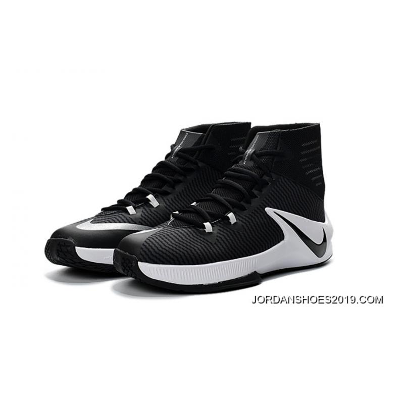 online store 02545 675c2 ... 2019 Latest Nike Zoom Clear Out Black White Basketball Shoes ...
