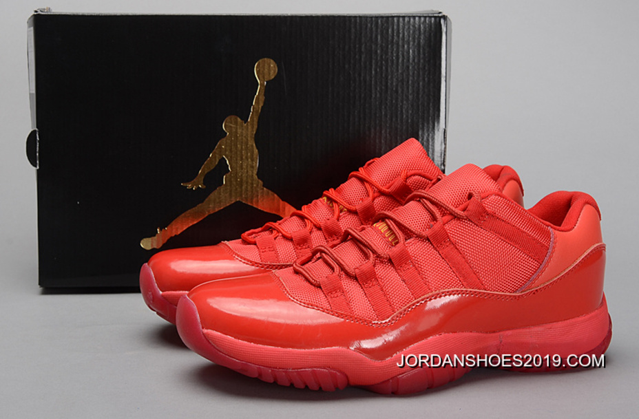 info for 46268 474f9 Air Jordan 11 Low All Red PE Shoes 2019 For Sale