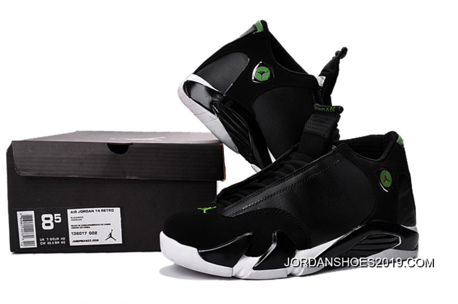 "13bad367f63b51 Air Jordan 14 ""Indiglo"" Black White Shoes 2019 New Release"