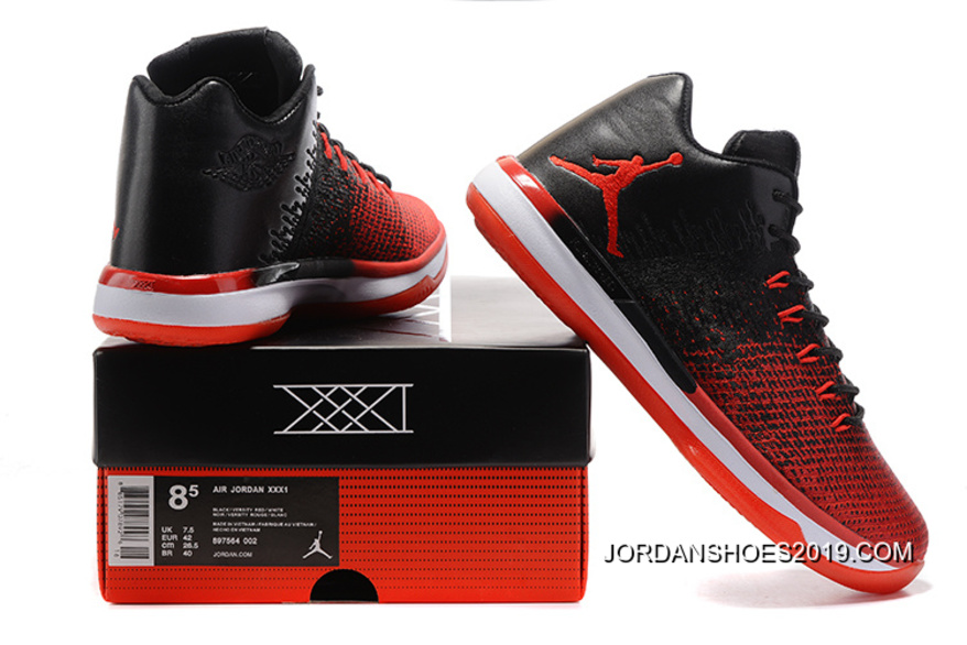 8beb7c54c4f301 ... real 2019 latest air jordan xxxi low banned black university red white  3528c 01100