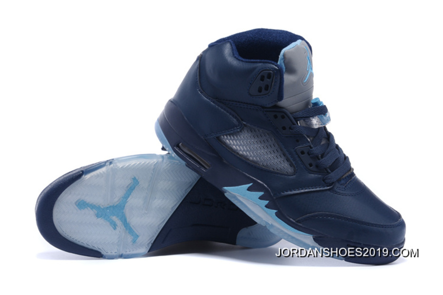 "separation shoes c3ea4 eeacb Air Jordan 5 ""Hornets"" Midnight Navy/Turquoise Blue-White 2019 Copuon"