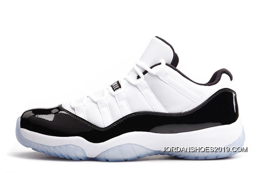 fb2c6cd9882c 2019 For Sale Air Jordan 11 Retro Low White Black-Concord