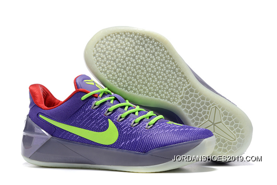 7f1bcf77a5c ... new arrivals 2019 new style girls nike kobe a.d. purple green red 40890  c16c5