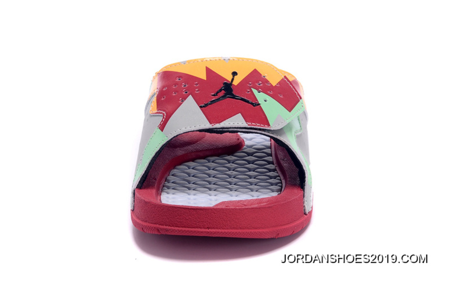 "df7dbe6414ee Jordan Hydro 7 Retro ""Hare"" Slide Sandals 2019 For Sale"