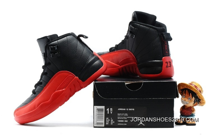 4679dd27d8a ... promo code for kids air jordan 12 black varsity red 2019 new year deals  fefe8 571a1 ...