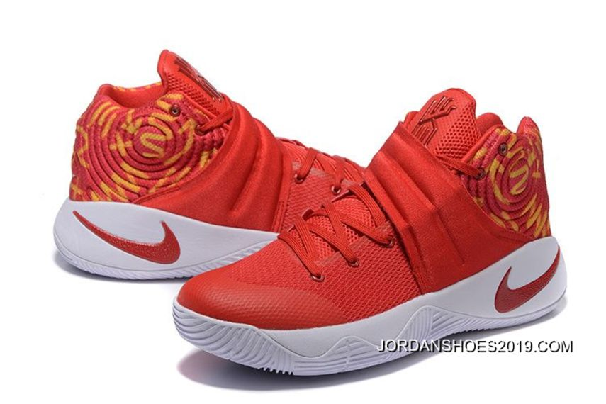 2019 online nike kyrie 2 red white basketball shoes price