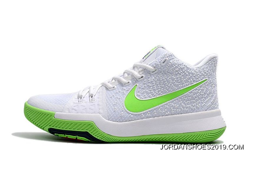 buy popular bbe69 c4552 Nike Kyrie Irving 3 Mountain Dew K.A.R.E. Kit White Green 2019 Outlet