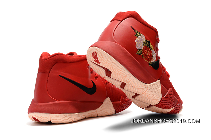 """49f8e7f94d51 Nike Kyrie 4 """"Floral"""" Red Peony Online"""