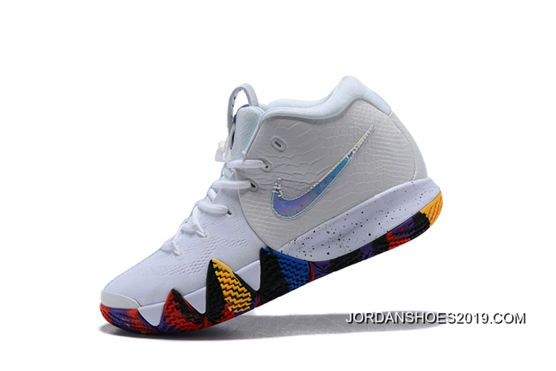 """wholesale dealer 3ff01 63d6a Nike Kyrie 4 NCAA """"March Madness"""" White Multi-Color New Style"""