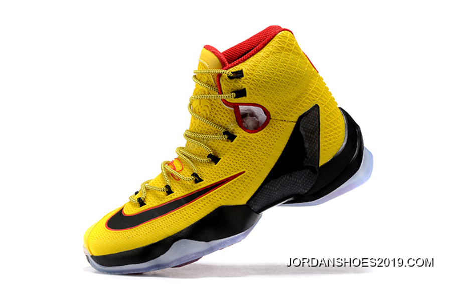 096307f159d Nike LeBron 13 Elite Yellow Black-Red 2019 New Year Deals