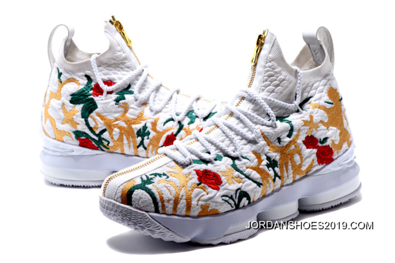 """d503cac28f76 Nike LeBron 15 """"Floral"""" White 2019 New Release"""