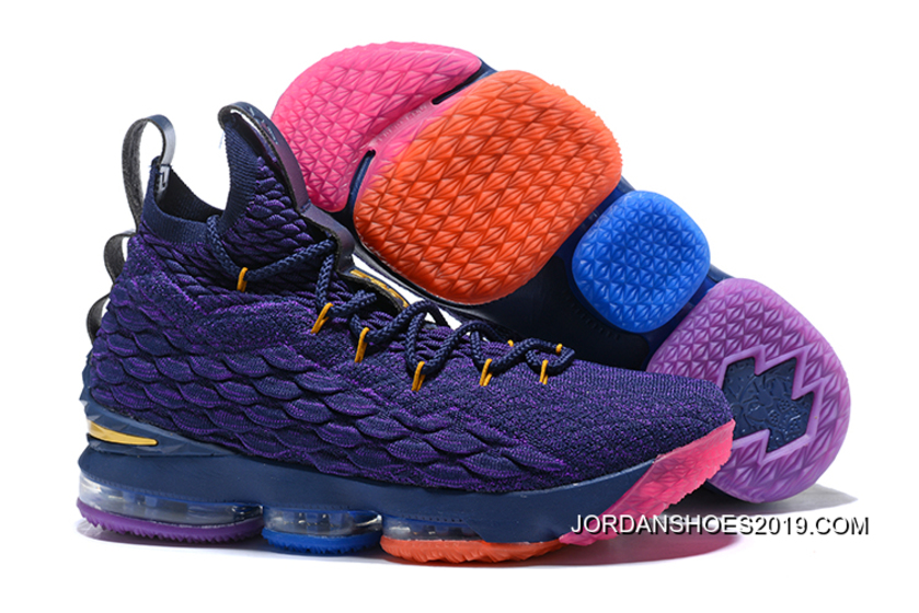137f341d1968e3 New Release Nike LeBron 15 PE Purple Multi-Colour