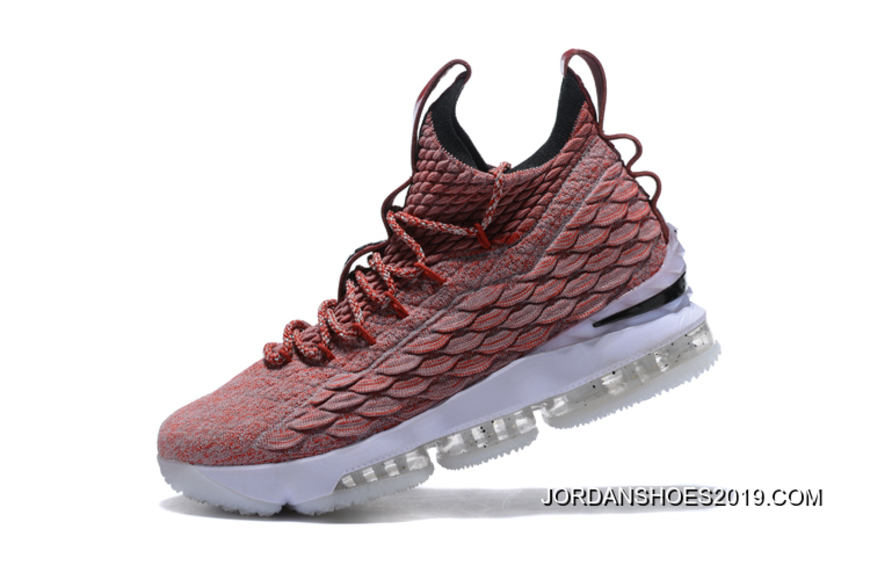 """sports shoes eee3d 9d72a Nike LeBron 15 """"Wine"""" Red Flyknit White For Sale"""