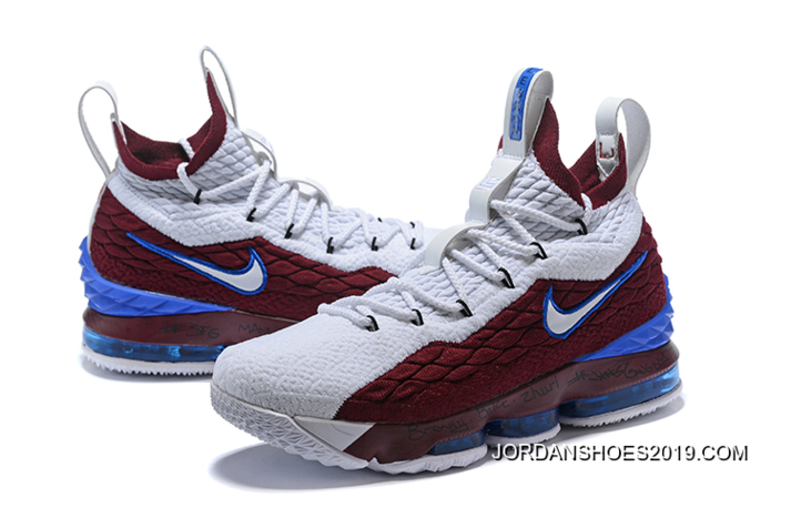 62f2c536078 ... real nike lebron 15 first game azg cavs white red blue big deals 08396  1ea45